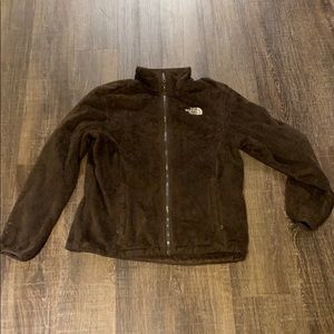 Chocolate Brown Osito North Face Jacket